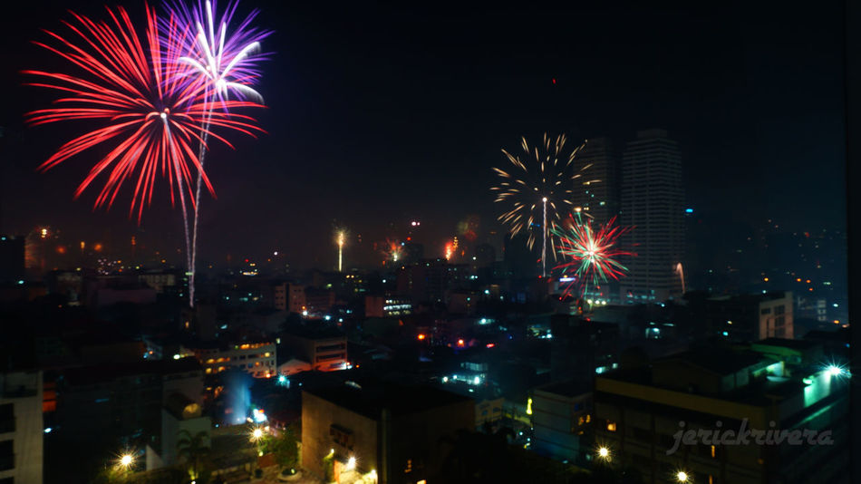 Discover Your City Fireworks Manila, Philippines New Years Eve Rule Of Thirds