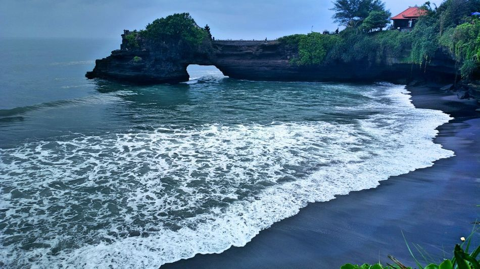 Tanah Lot. TheFoneFanatic Nokia808 Phone Photography Mobile Photography Wave Tides Scenics Beautiful Sea Sky Vacations Tanah Lot Rock - Object Beach ASIA Landscape Nature The Week On EyeEm