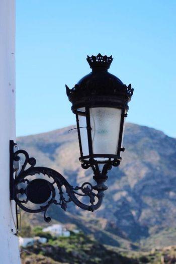 Wrought Iron Street Light Mojacar Pueblo Close-up