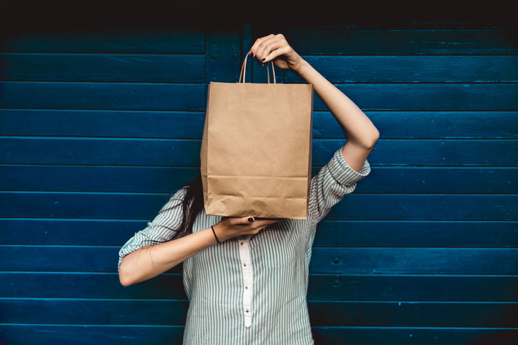 Woman holding a shopping bag