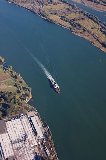 Fraser River Aerial View Day High Angle View Mode Of Transportation Nautical Vessel Outdoors Transportation Water Waterfront