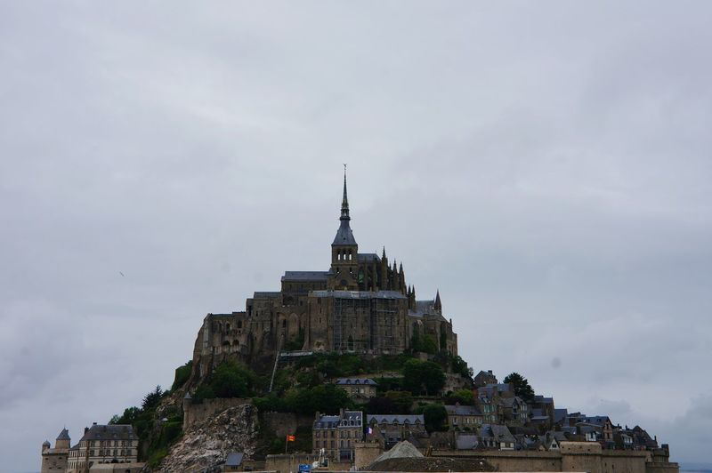 Business Finance And Industry City Outdoors Travel Destinations No People Sky Architecture Day Mount Saint Michel