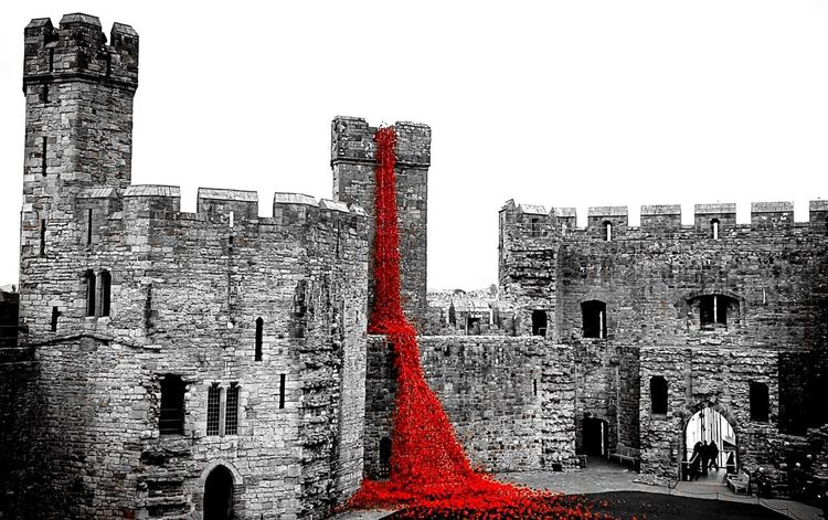 Caernarfon Castle Weeping Window