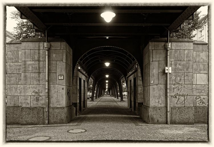 Arch Architecture Architektur Berlin Berlin Germany Bridge Brücke Built Structure Electric Light No People Prenzlauer Berg Prenzlberg Street Light U-Bahn