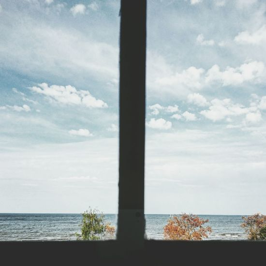 Just a simple window view Minimalism Simple Beach Photographer Photography Photo Perspective Europe Poland Travel Traveling Seascape Seaside Sea And Sky Sea Window View Home Window View Sky Skyporn