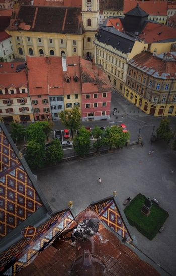 Old town Sibiu Sibiu, Romania Building Exterior Architecture Built Structure City High Angle View Building Residential District No People Transportation Outdoors Roof Street City Life Town