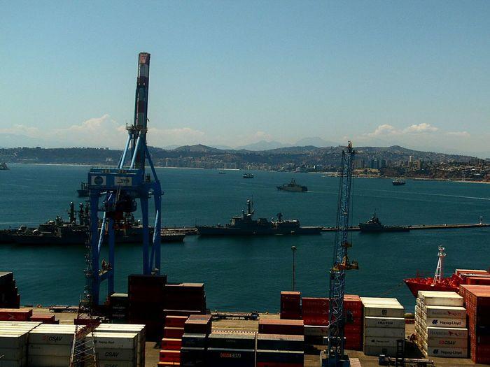 Cranes at harbor