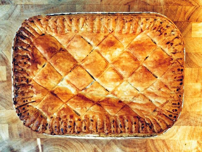 Chicken pie Food And Drink Freshness No People Indoors  Chicken Pie Table Cultures Ready-to-eat Close-up Day