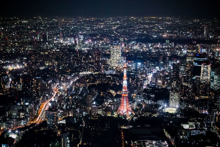 Helicopter night view of Japan Airplane Architecture Building Exterior Celebration City Cityscape Exploding Firework Helicopter Helicopter View  Illuminated Japan Nighe View Night No People Outdoors Sky Skyscraper Travel Destinations