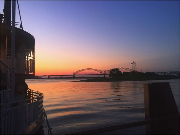 Sunset Built Structure Architecture Water Clear Sky Bridge - Man Made Structure Outdoors Sea