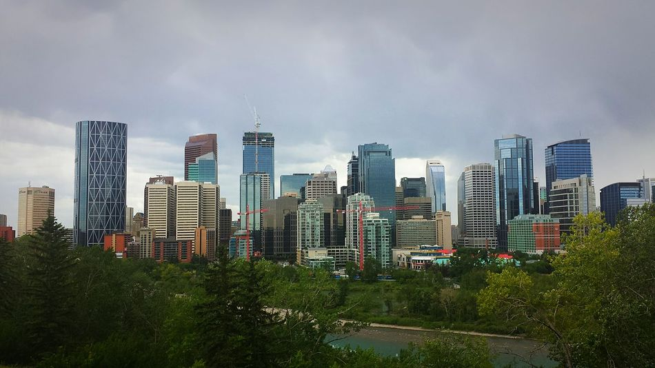 YYC Clouds And Sky PhonePhotography Phoneography Construction Bow Tower Downtown Downtown Calgary Avairy YYC Landscape