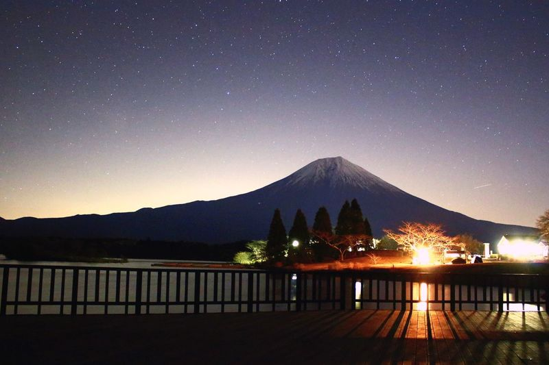 Japan Sky Cool Japan Starry Sky Stars Beautiful Mountains Mountain Fuji 富士山 田貫湖 星空 New Talent