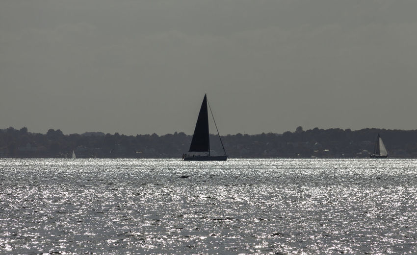 Sailboat outside Ven Beauty In Nature Nautical Vessel Sailboat Sky Tranquil Scene Tranquility Transportation Water Waterfront
