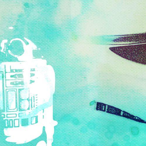 Menace R2D2 Stormtrooper Starwars Pastdigital Canvas