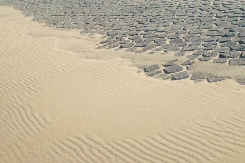 Full frame shot of sand dunes at beach