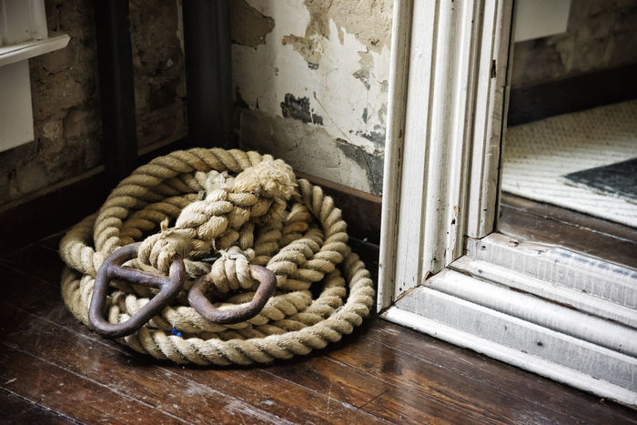 Shot on Nikon D810, had to resize a tad due to Eyeem file size limit. :( Browns Heavy Rope Mirror Nikon D810 Old Rope Distressed Distressed Walls Earth Tones Fishing Rope Frame Hardwood Floor Metal Hardware Muted Colors Vintage