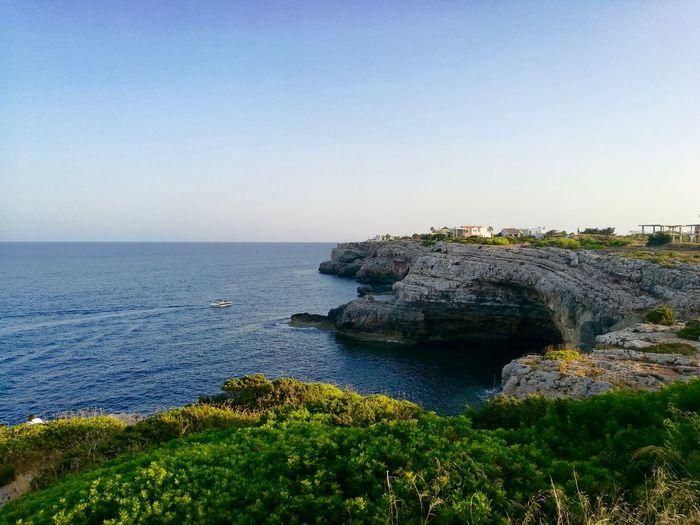 Cliff Water Sky