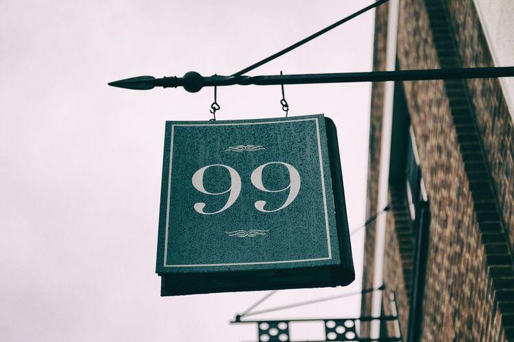Kaprekar number 99 Brick Wall Cardinal EyeEm LOST IN London EyeEm Selects Green Green Color London Sign Signage Binary Day Digits Hanging Low Angle View Mathematics Ninety-nine Ninetynine Number Number 9 Number 99 Numbers Outdoors Text