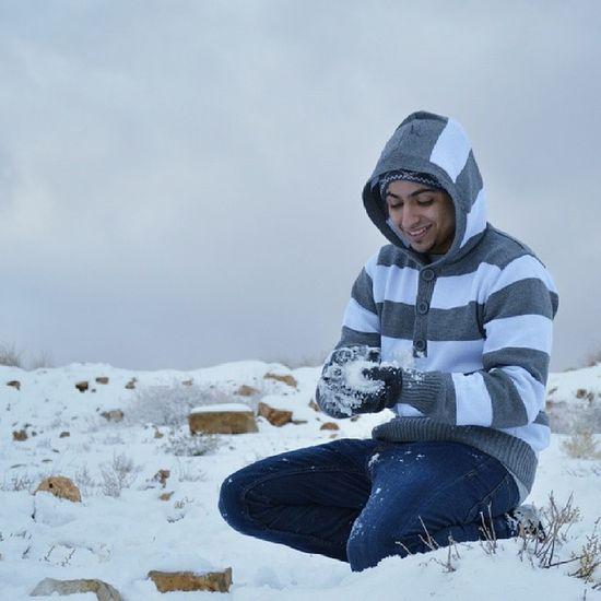 الاردن العقبه جبال جبل ثلوج ثلج انا  عدسة @mesharibineid Nikon نيكون العب بكور الثلج