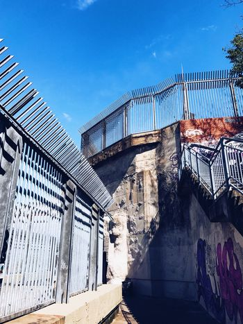 Architecture Built Structure Building Exterior Day No People Outdoors Sky Bunker Flakturm Berlin Berliner Ansichten Berlin Photography Sun Blue Sky WWll Architecture Low Angle View Concrete Fence Discover Berlin