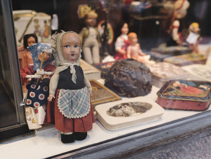 Close-Up Of Dolls For Sale