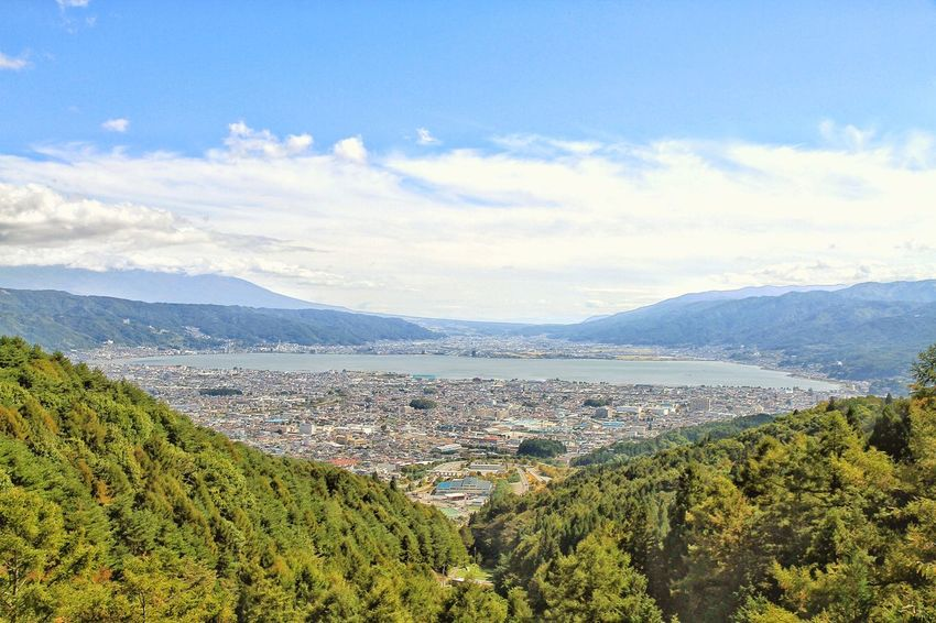 Japan Nagano Shiojiri Photography View Viewpoint Mountain Lake Suwa Lake