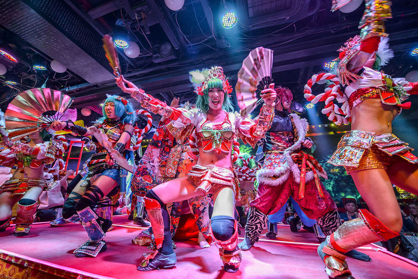 performance at the robot restaurant Adult Adults Only Arts Culture And Entertainment Dance Dancing Entertainers Entertainment Fun Indoors  Indoors  Kabukicho Multi Colored Music Night Nightlife People Performance Performing Arts Event Stage - Performance Space Stage Light Young Adult