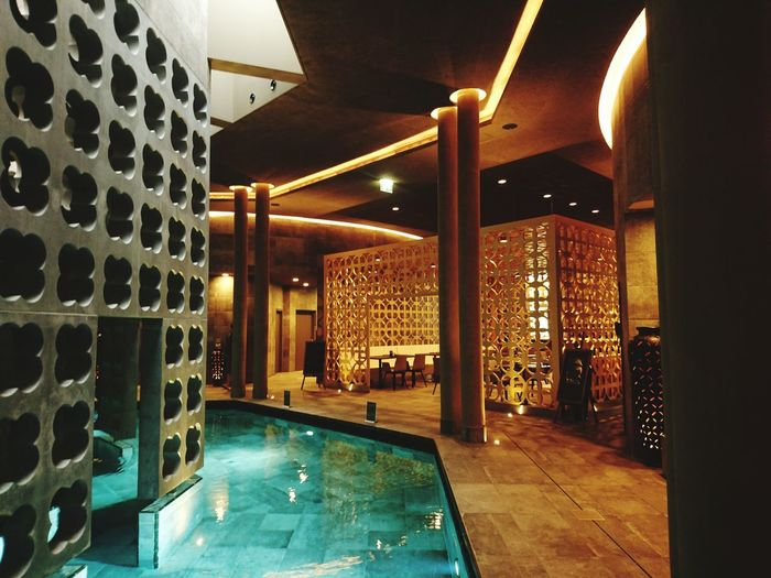 Silent Spa, Therme Laa, Austria Architecture Luxury Indoors  Illuminated Swimming Pool Water No People Wellnessandbeauty Therme Laa Spa Bath Wellness Oasis Wellness Area Light And Darkness  Enjoying Life Built Structure Relaxing Moments Wellnessday Wellnesshotel Wellnessbereich The Week On EyeEm