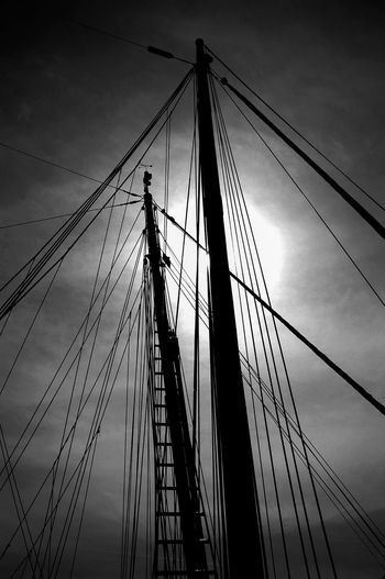 Boat Cable Cloud - Sky Connection Day Low Angle View Mast Mode Of Transport Nautical Vessel No People Outdoors Sailing Ship Ship Sky Tall Ship Transportation Travel Travel Destinations