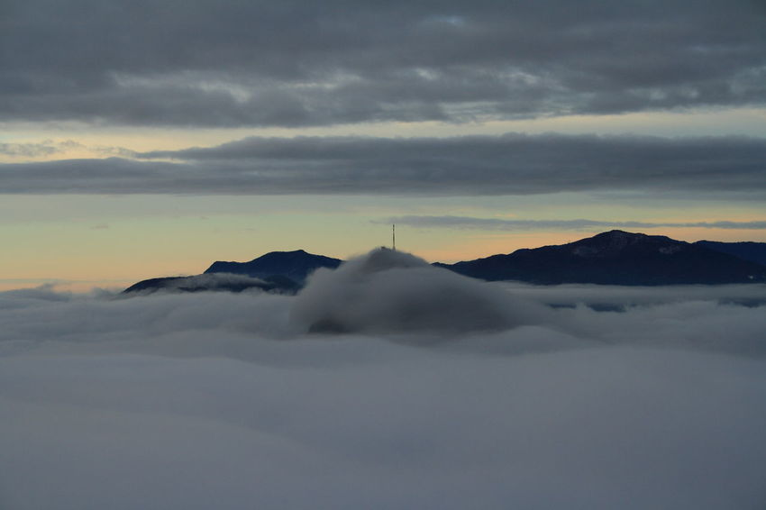 Clouds Cloudy Lugano, Switzerland Monte San Salvatore at Sunrise View From The Peak of Monte Bre TICINO ♡ Switzerland .Canon Eos 1000d Sea Of clouds Showcase: January Cloud - Sky Above The Clouds Pastel Power Hidden Gems