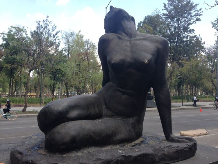 Breast Cancer Breastcancer Bronze Bronze Statue Female Finger Looking At Camera Mexico Mexico City Nake Naked_art NippleLove One Animal Shiny Statue Street
