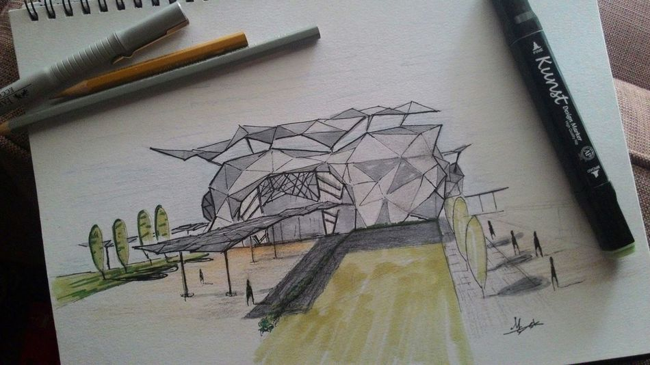 Everyday Education learning to draw better Sketch Architecture ArtWork Artline Colours Design