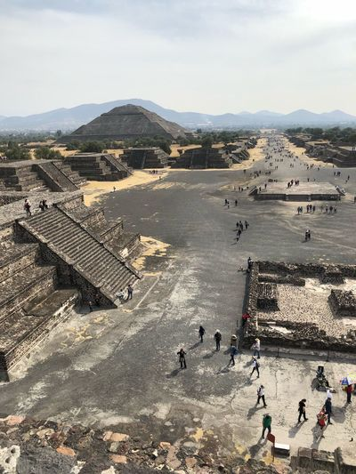 Teotihuacán Pyramids High Angle View Architecture