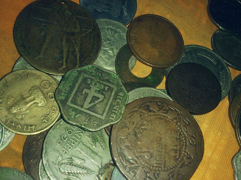 Antique Coins Indian Antique Coins Collection King George IV Meddle 1912maddle G Queen Victoria  Anna Coin my antique coins