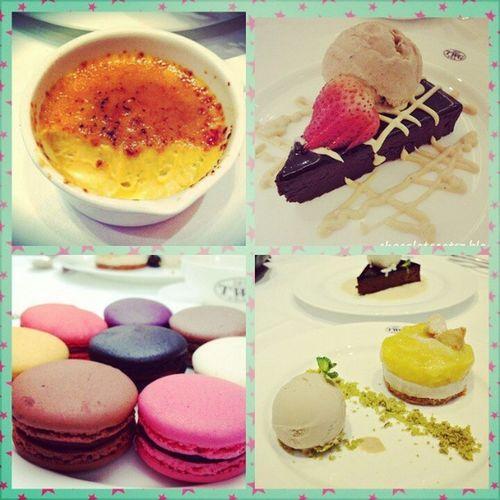 Ate @Danna Keil Eto na:) TWG MangoCrumble Napoleon Macarons CremeBrulee Dessert