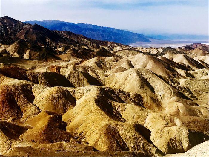 Zabriskie Point Nature Geology Mountain Beauty In Nature Scenics Landscape No People