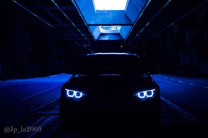 50 Shades of Blue Bmw M4 Glowinthedark Carofinstagram Feeling Blue DTLA Los Angeles, California Illuminated Mpower BMwworld MPerformance