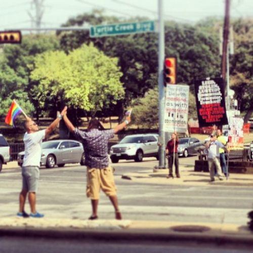 Freedom never felt so Good 🌈 GodLovesEverybody DallasPride Pride2013 Rainbow Love ✨