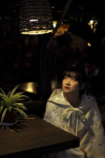 hi lady One Person Night One Woman Only Beautiful Woman Illuminated