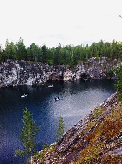 Fascinating Karelia. Tree Nature Water No People Outdoors Day Beauty In Nature Waterfront Boat Mountain Forest Landscape Landscape_Collection Karelia Beauty In Nature