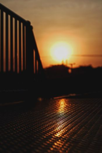 Steel Sunset Checker Plate Stairways Sunset Sunlight No People Sun Sky Outdoors Architecture EyeEmNewHere