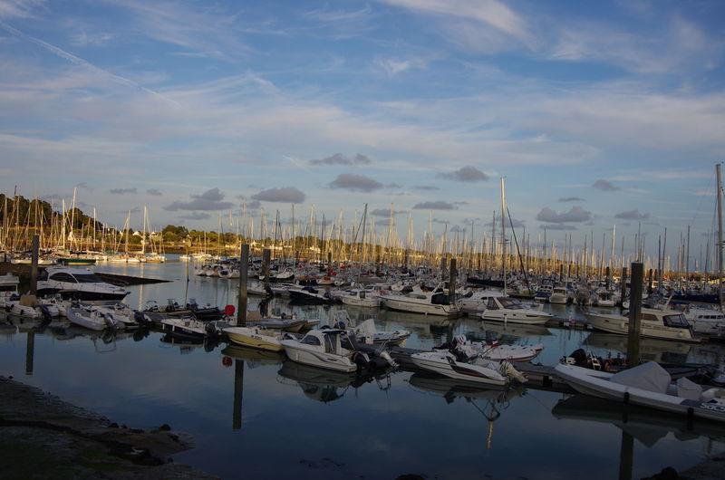 Reflection Nautical Vessel Cloud - Sky Travel Destinations Vacations Water Harbor Sea Outdoors Sailboat Pentax K5ll Bretagne Morbihan Trinité Sur Mer Harbour Trinite Sur Mer France Trinité-sur-mer