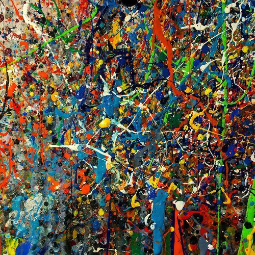 Творчество размазня краски  креатив Санкт-Петербург