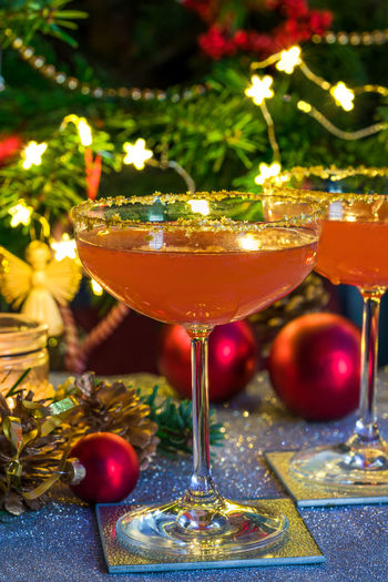 Aperol spritz with grapefruit juice. Festive cocktail idea. Aperol Spritz Celebration Christmas Coctail Cocktail Food And Drink Holiday Juice Liquid Alcohol Alcoholic Drink Christams Tree Christmas Drinks Cold Cold Drink Decoration Drink Glass Indoors  No People Nobody Nobody Around Winter Celebration