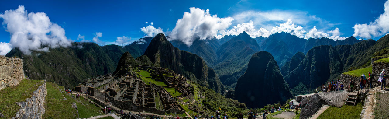 Amazing View Beautiful Blue Sky Cloudy EyeEmNewHere Landscape Machu Picchu Mountains Peru Place Of Worship South America Stunning Travel Destinations Traveling