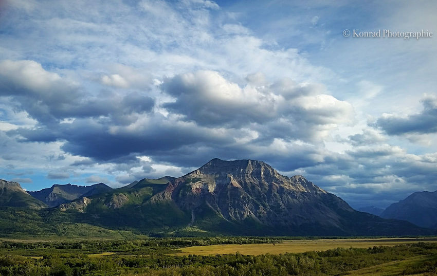 Beauty In Nature Cloud - Sky Day Explorealberta Getaway  Hiking Landscape Mountain Mountain Range Nature No People Nofilter Outdoors Photography Rocky Mountains Scenics Sky Summer Waterton Lakes National Park