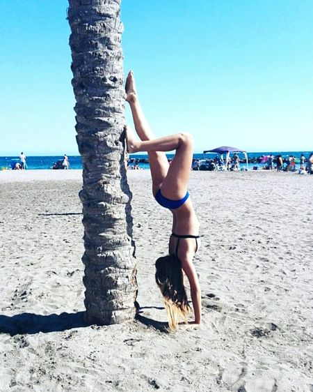INSTAGRAM: nataliehernandez11Leisure Activity Sea Blue Vacations Lifestyles People And Places Nature Blondie Atmosphere Sky Upside Down Water Summer Outdoors Beach Ocean