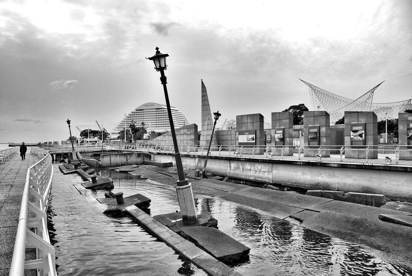 01.2008 Meriken Park Kobe Japan Remnants Of A Tragic Past Black And White Bayside Earthquake