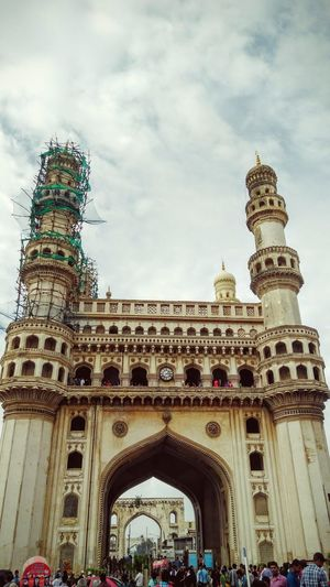 Charminar - Hyderabad Architecture Built Structure Famous Place Tourism Arch Travel Destinations History Sky Travel Cloud - Sky International Landmark EyeEm Gallery Open Edit The Journey Is The Destination Hello World Heritage Building Architectureporn Heritage Site Hyderabad Charminar Indiapictures