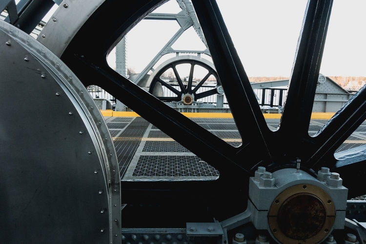 Close-up of wheel against sky